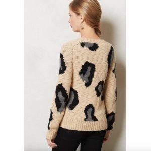 Anthropologie: guepardo leopard wool sweater